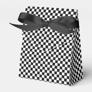 Black And White Classic Checkerboard Favor Box