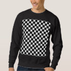 Black And White Classic Chequerboard by STaylor Sweatshirt