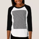 Black And White Classic Chequerboard T-Shirt