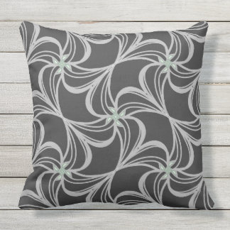 Black and white classic elegance throw pillow