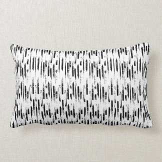 Black and white classic lines lumbar pillow