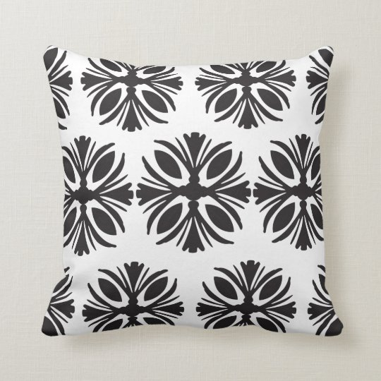 Black and White Classic Pattern Pillow