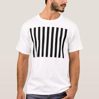 Black and White Classic Stripes Striped Vertical T-Shirt