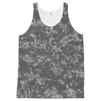 Black and White Classy Elegant Pattern All-Over-Print Tank Top