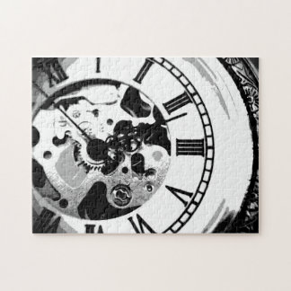 black and white clockface puzzle