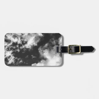 Black and White Cloudy weather Luggage Tag