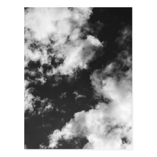 Black and White Cloudy weather Postcard