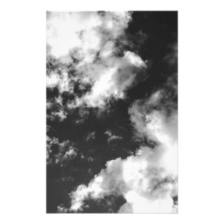 Black and White Cloudy weather Stationery