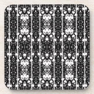black and white coaster