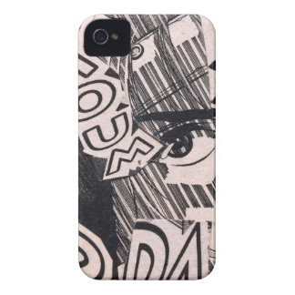 Black and White Collage Comics Pattern iPhone 4 Case