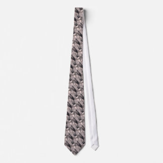 Black and White Collage Comics Pattern Tie