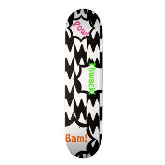 Black and White Comics Pattern Customizable Deck Skate Board Deck