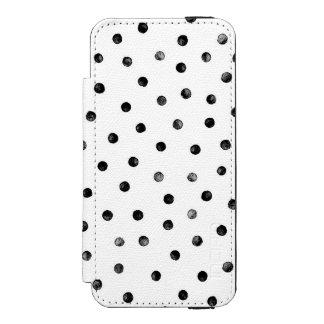 Black And White Confetti Dots Incipio Watson™ iPhone 5 Wallet Case