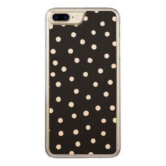 Black And White Confetti Dots Pattern Carved iPhone 8 Plus/7 Plus Case