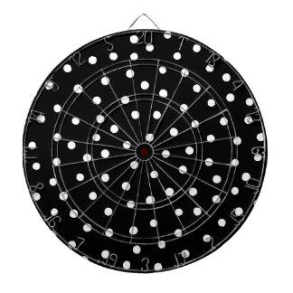 Black And White Confetti Dots Pattern Dartboard