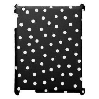 Black And White Confetti Dots Pattern iPad Case
