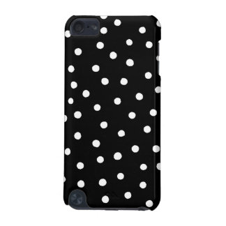 Black And White Confetti Dots Pattern iPod Touch 5G Covers