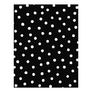 Black And White Confetti Dots Pattern Letterhead Template