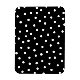 Black And White Confetti Dots Pattern Magnet