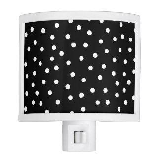 Black And White Confetti Dots Pattern Nite Light