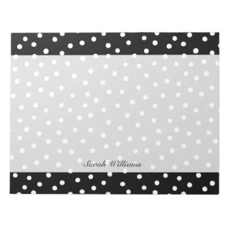 Black And White Confetti Dots Pattern Notepads