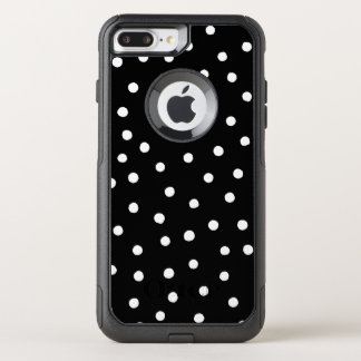 Black And White Confetti Dots Pattern OtterBox Commuter iPhone 8 Plus/7 Plus Case