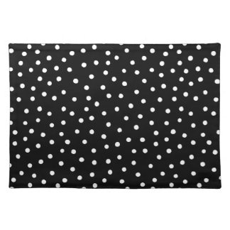 Black And White Confetti Dots Pattern Placemat