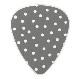 Black And White Confetti Dots Pattern Polycarbonate Guitar Pick