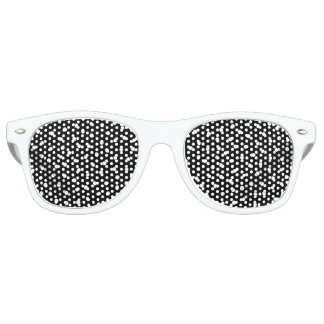 Black And White Confetti Dots Pattern Retro Sunglasses