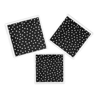 Black And White Confetti Dots Pattern Serving Tray