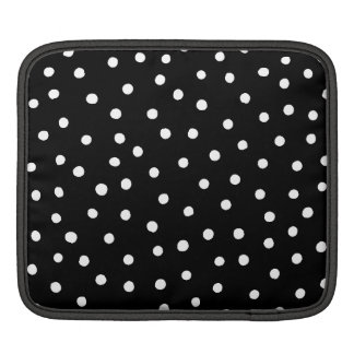 Black And White Confetti Dots Pattern Sleeve For iPads