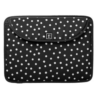 Black And White Confetti Dots Pattern Sleeve For MacBooks