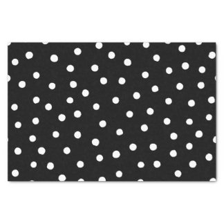 Black And White Confetti Dots Pattern Tissue Paper