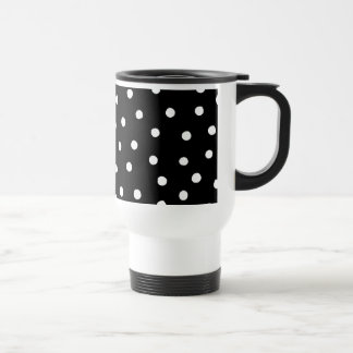 Black And White Confetti Dots Pattern Travel Mug