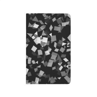 Black and White Confetti Journal