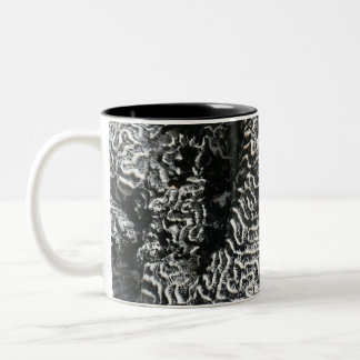 Black and White Coral I Abstract Nature Photo Two-Tone Coffee Mug