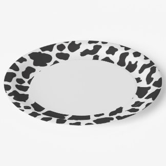Black And White Cow 9 Inch Paper Plate
