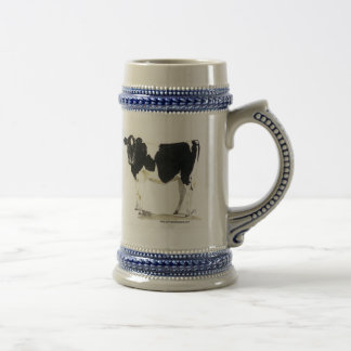 black and white cow beer stein 18 oz beer stein