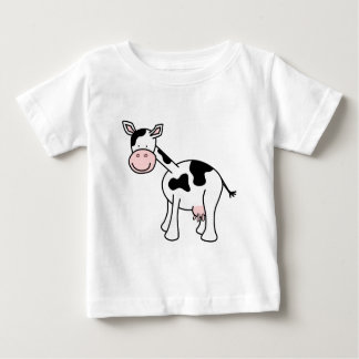 Black and White Cow Cartoon. Baby T-Shirt