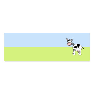 Black and White Cow Cartoon. Business Cards