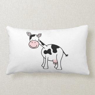 Black and White Cow Cartoon. Pillows