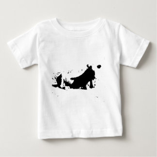 Black and White Cow in Ink Baby T-Shirt