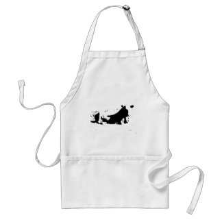 Black and White Cow in Ink Standard Apron