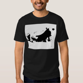 Black and White Cow in Ink T-shirt