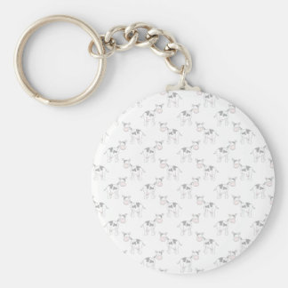 Black and White Cow Pattern. Basic Round Button Keychain