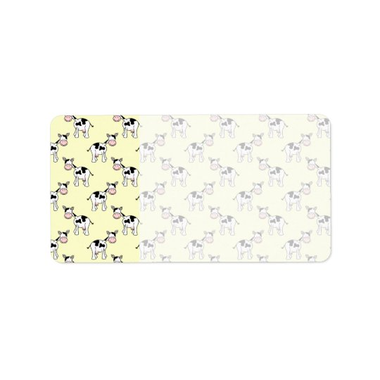 Black and White Cow Pattern on Light Yellow