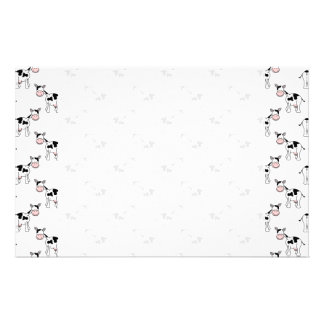 Black and White Cow Pattern. Stationery Paper