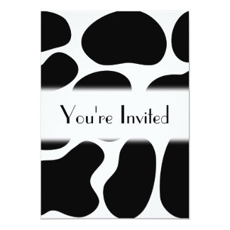 Black and White Cow Print Pattern. Card