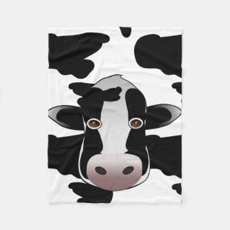 Black and white Cow Print Pattern Fleece Blanket