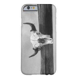 Black and White Cow Skull Barely There iPhone 6 Case